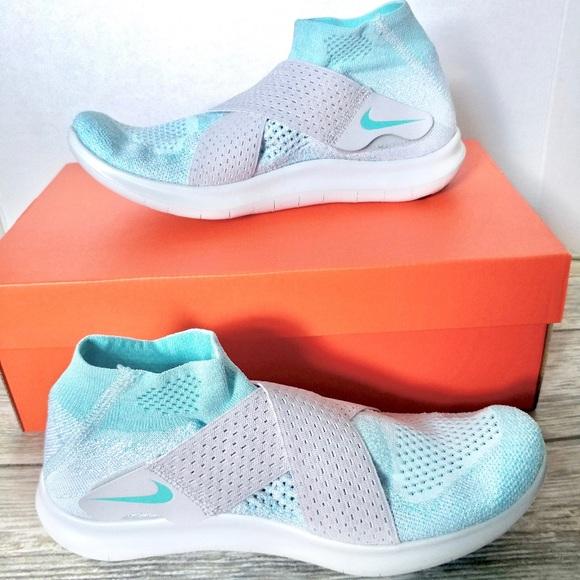 Nike Free RN Motion Flyknit 2017 Women Glacier BlueVast